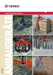 Anbaugeräte für Ladekrane - Tecklenborg GmbH & Co. KG
