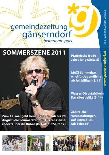 Gemeindezeitung - Ausgabe 2011/3 - Stadtgemeinde Gänserndorf