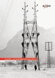 Geschäfts- und Nachhaltigkeitsbericht 2012 | 13 - Axpo