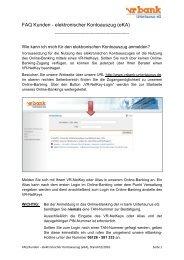 FAQ Kunden - elektronischer Kontoauszug (eKA) - vr bank ...