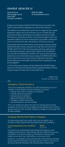 Emergency Travel Assistance and Identity Theft Protection - Page 4
