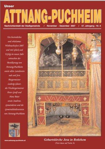 Ausgabe November-Dezember 2007 - Attnang-Puchheim