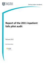 Report of the 2011 inpatient falls pilot audit - Royal College of ...