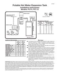 Potable Hot Water Expansion Tank - Clean My Water