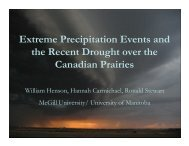 Extreme Precipitation Events and the Recent Drought over the ...