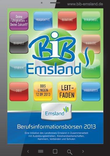 Berufsinformationsbörsen 2013 - BIB Emsland