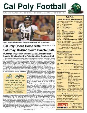 Cal Poly Football - South Dakota State University Athletics