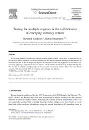 Testing for multiple regimes in the tail behavior of emerging currency ...