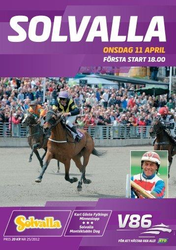 ONSDAG 11 APRIL - Solvalla