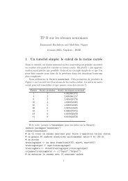 TP R sur les réseaux neuronaux - Inra