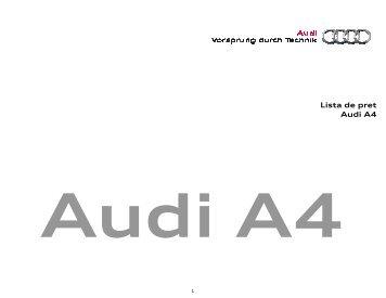 Lista pret A4_Mai 2011 - Audi Romania