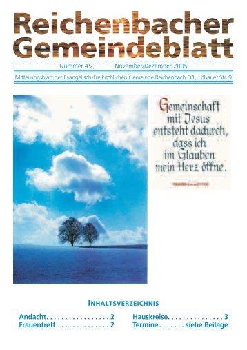 Nr. 45 November/Dezember 05 - bei der EFG Reichenbach