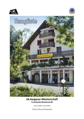 64.Aargauer-Meisterschaft - Unterverband Talschaft der SFKV