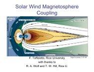 Solar Wind Magnetosphere Coupling