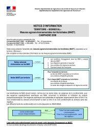 Direction départementale de l'agriculture et de la forêt - L'Europe s ...