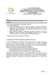 Avis Universite de Hulhouse - Commission des Titres d'Ingénieur