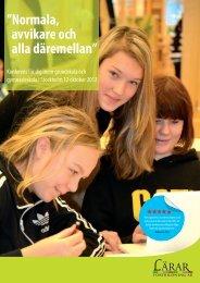 Normala-avvikare 2012 program.indd - Lärarfortbildning