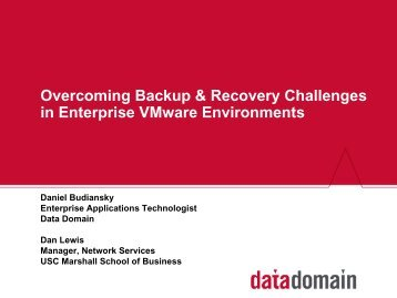 Overcoming Backup & Recovery Challenges in Enterprise VMware ...