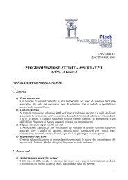 Programma - Istituto Universitario Suor Orsola Benincasa