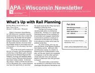 Fall 2010 - American Planning Association, Wisconsin Chapter