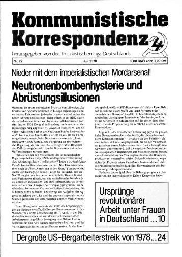KK 22/78 - International Bolshevik Tendency