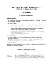 REGLEMENT DU CONSEIL MUNICIPAL DE LA