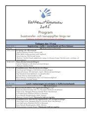 Program Vattenstämman 2015