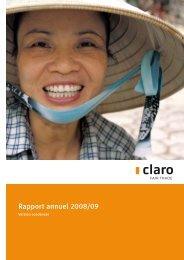 Rapport annuel 2008/09 - claro fair trade AG