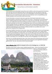Persönlicher Reisebericht – Dolomiten - Indalosia