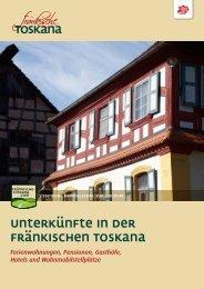 Unterkunftsverzeichnis Fränk. Toskana - Fränkischen Toskana