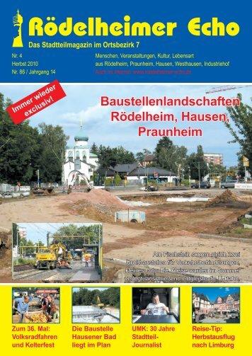 30 Jahre Stadtteil- Journalist Reise-Tip - Rödelheimer Echo