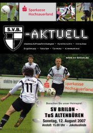 """1. Ausgabe 2007/2008 von """"SVB-aktuell"""" - SV 20 Brilon"""