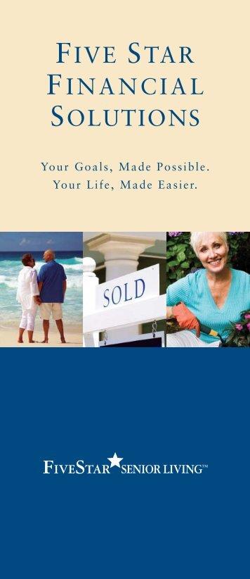 FIVE STAR FINANCIAL SOLUTIONS - Five Star Senior Living