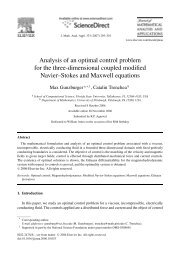 Analysis of an optimal control problem for the three-dimensional ...