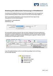 Einrichtung eKA (elektronischer Kontoauszug) in VR-NetWorld 4.3