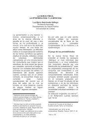 LA NUEVA FÍSICA, LA EPIDEMIOLOGÍA Y LA MEDICINA Luz Elena ...