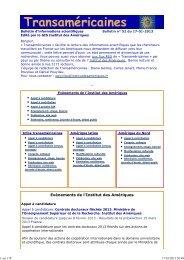 Bulletin num. 52 du 17-01-2013 - Institut des Amériques