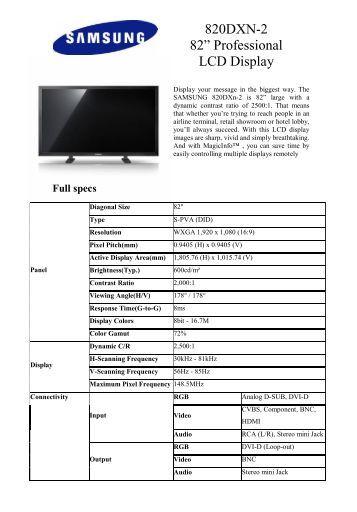 Samsung 460ut b