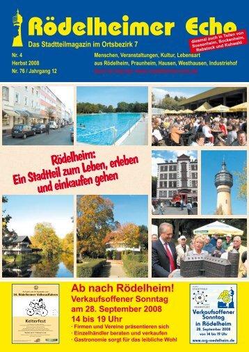 Verkaufsoffener Sonntag in Rödelheim - Rödelheimer Echo