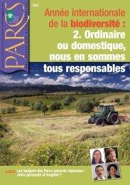 Revue Parcs n°66 - Fédération des Parcs Naturels Régionaux