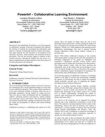 Proceedings Template - WORD - Instituto de Informática - UFG