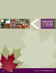 Greater than the Sum of our Parts - Canadian Council on Social ...
