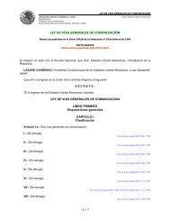 Ley de Vías Generales de Comunicación - Última reforma publicada ...