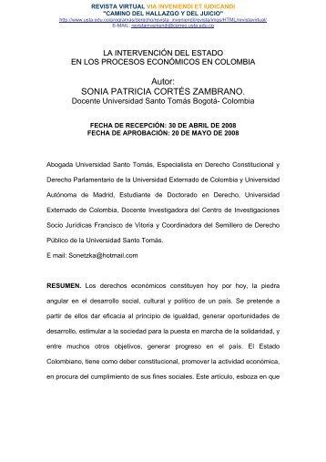 REVISTA VIRTUAL - Via Inveniendi Et Iudicandi - Universidad Santo ...
