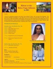 Kirtan at the Kriya Yoga Ashram In 2013 - Babaji's Kriya Yoga
