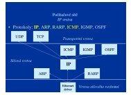 • Protokoly: IP, ARP, RARP, ICMP, IGMP, OSPF IP - eAMOS