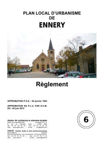 Un règlement - Ennery