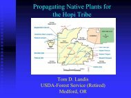 Developing the Cultural Plant Propagation Center on the Hopi ...