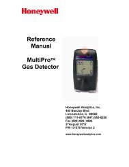 Reference Manual MultiPro™ Gas Detector - Honeywell Analytics