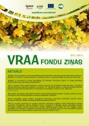 VRAA FONDU ZIŅAS Nr.4 - Valsts reģionālās attīstības aģentūra
